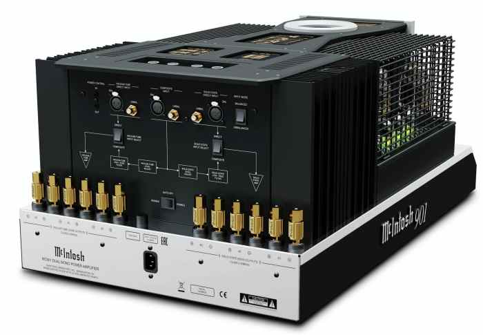 MC901 Dual Mono Amplifier From McIntosh