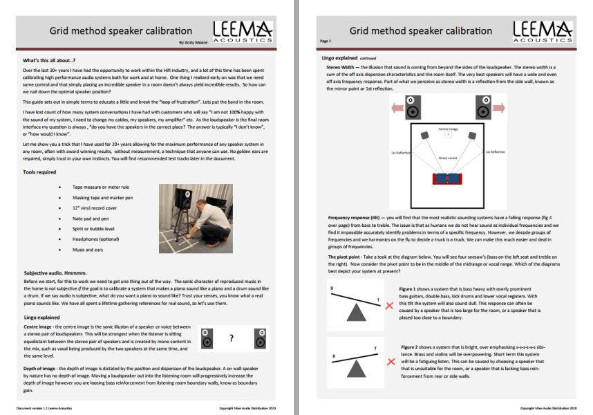 Grid Method, Speaker Calibration from Leema