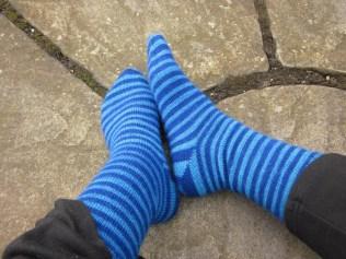 The Knitting Goddess Britsock Stripy Socks! Yummy-ness for my feet!