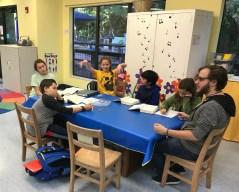 Prayer discussion at Selah School