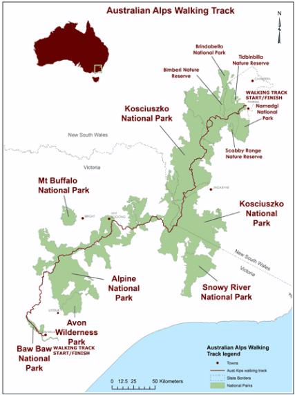 Australian Alps Walking Track maps