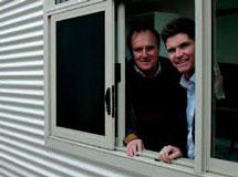 Steve Whan and Bob Debus at Sawpit Creek Kosciuszko visitor entrance