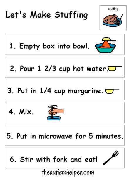 Free Thanksgiving Visual Recipes :)