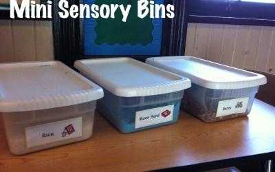 Mini Sensory Bins