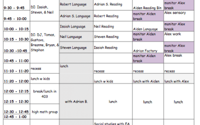 The Autism Helper Classroom: Class Schedules
