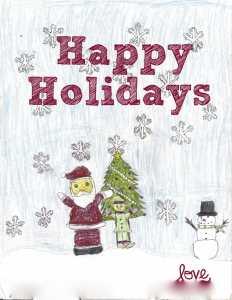 classroom holiday card