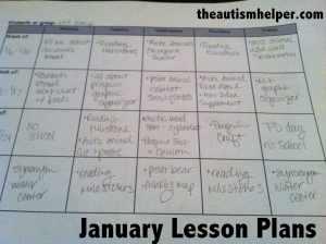 The Autism Helper - January Plans