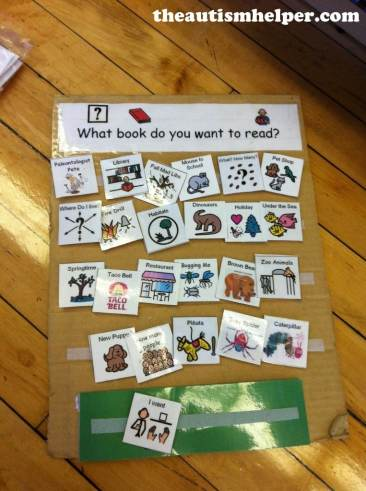 The Autism Helper - book choice board