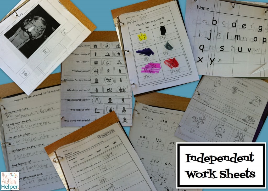 Worksheets Resources - The Autism Helper