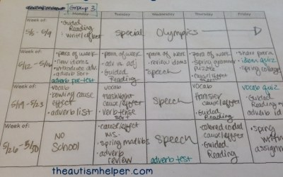 May Lesson Plans