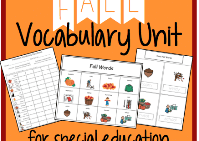 Fall Vocabulary Unit