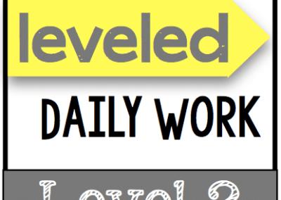 Leveled Daily Work {Level 2}