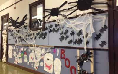 Halloween Hallway Decorations