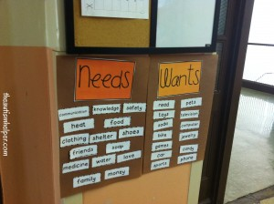 Teaching Wants vs. Needs