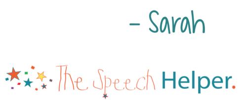 Sarah The Speech Helper