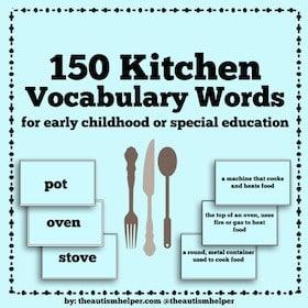 150 Kitchen Vocabulary Words