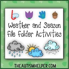 Weather and Season File Folder Activities