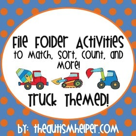 Truck Themed File Folder Activities