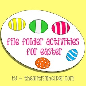 Easter File Folder Activities