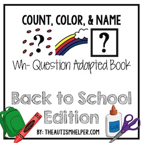 Count, Color, and Name – Back to School