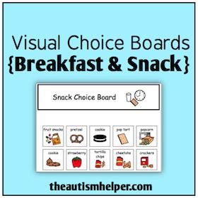Visual Choice Boards {Breakfast & Snack}