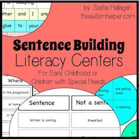 Sentence Building Literacy Centers