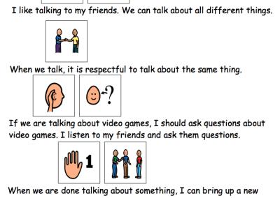 Teaching Conversation Skills - The Autism Helper