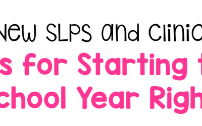 Tips To Start The School Year Off Right!