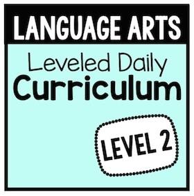 Language Arts Leveled Daily Curriculum {Level 2}