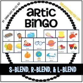 Articulation Bingo {S, R, & L Blends}