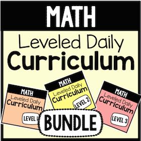 Math Leveled Daily Curriculum {BUNDLE}