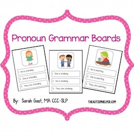Pronoun Grammar Boards