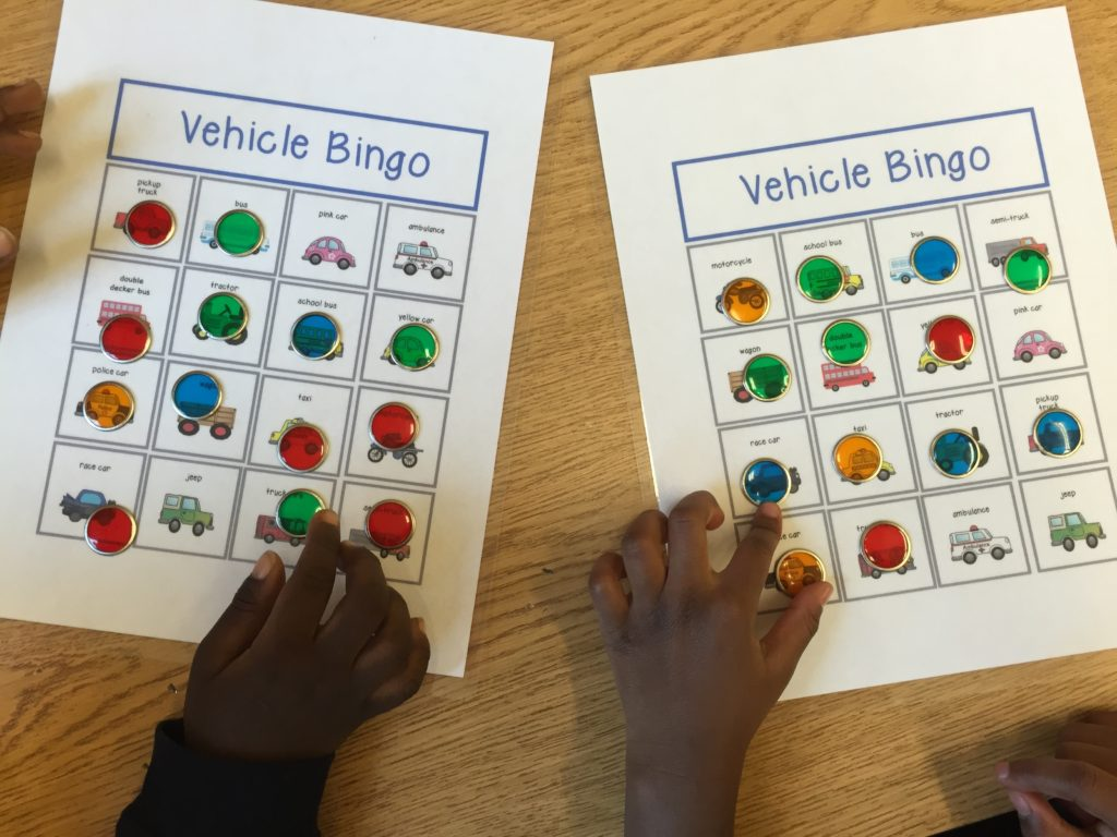 Vehicle Bingo Fun