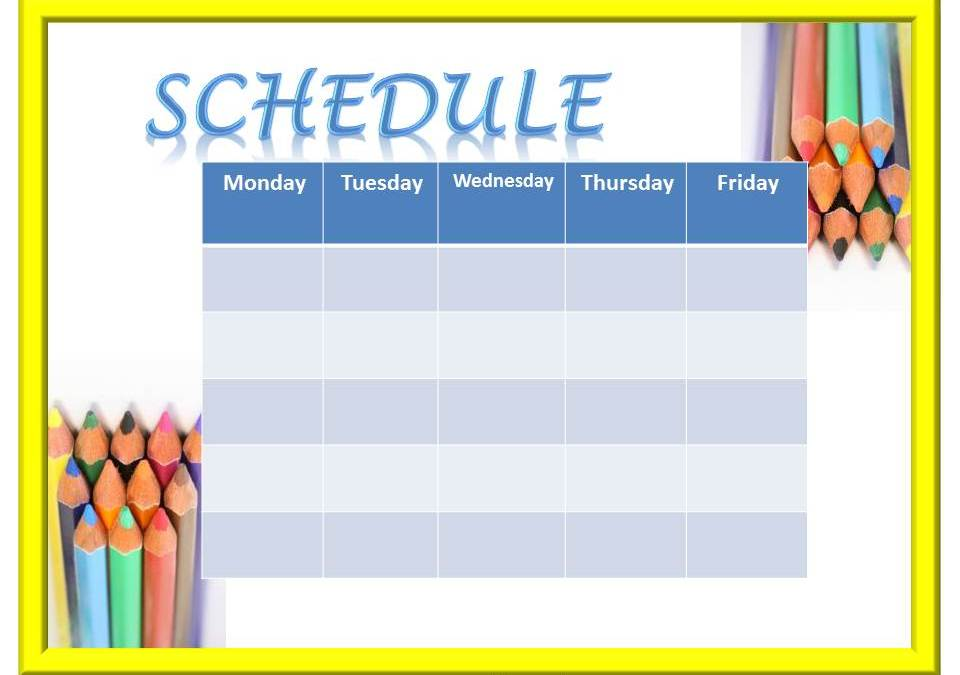 Time for Clinician Schedules!