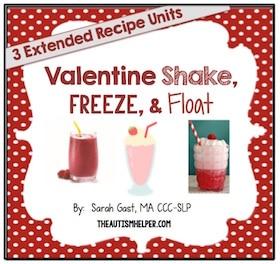 Valentine Shakes, Freezes, & Floats {3 Adapted Recipe Units}