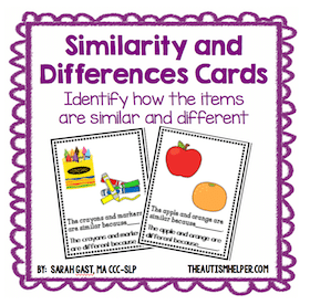 Similiarites and Differences Task Cards
