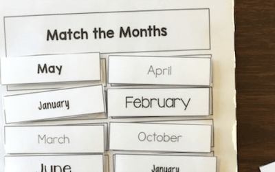 Day and Month File Folder Activities
