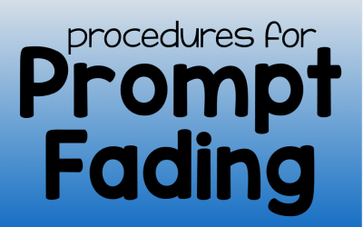 Procedures for Prompt Fading
