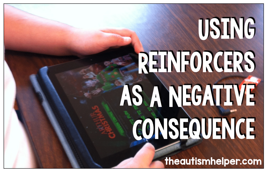 Using Reinforcers as a Negative Consequence