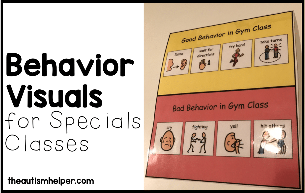 Behavior Visuals for Specials Classes