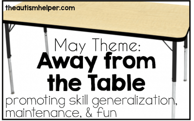 May Theme: Away From the Table {Promoting Skill Generalization, Maintenance, & FUN}