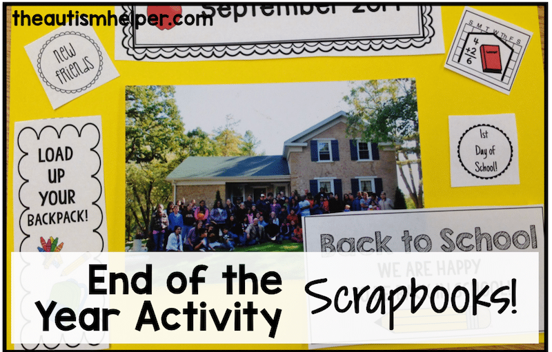 End of the Year Activity: Scrapbooks!