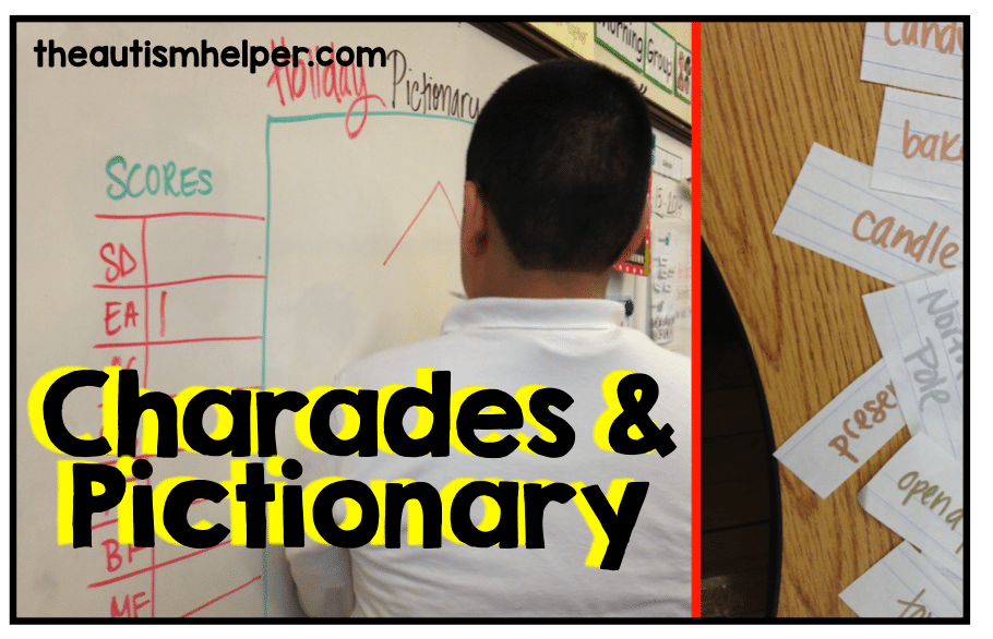 The Three Essential Parts Of Iep Goal >> Targeting Iep Goals Through Charades Pictionary The Autism Helper
