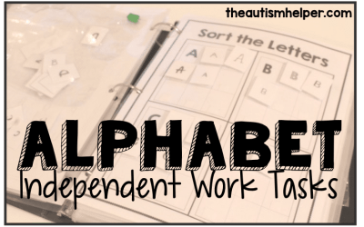 Alphabet Independent Work Tasks