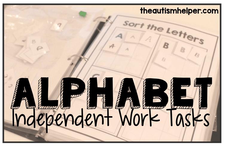 Alphabet Independent Work Tasks