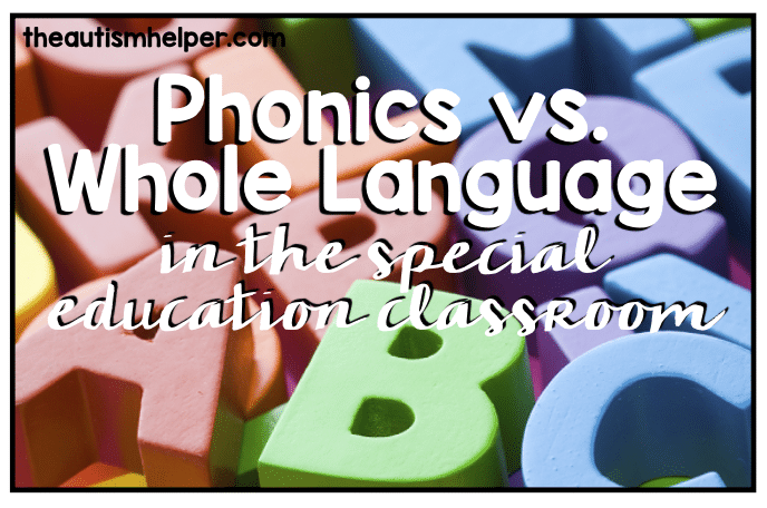 How Language Of Special Education Is >> Phonics Vs Whole Language In The Special Education Classroom The