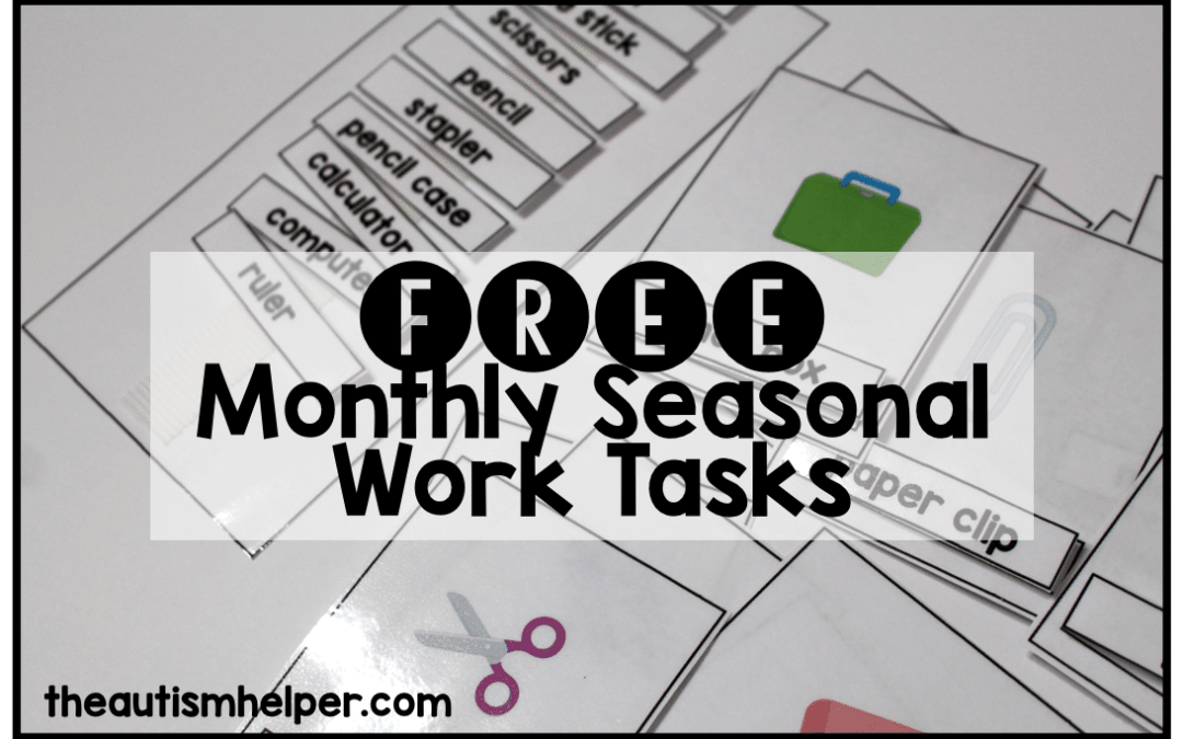 Monthly Task Boxes: FREE