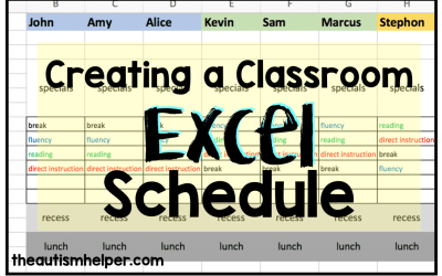Creating a Classroom Excel Schedule