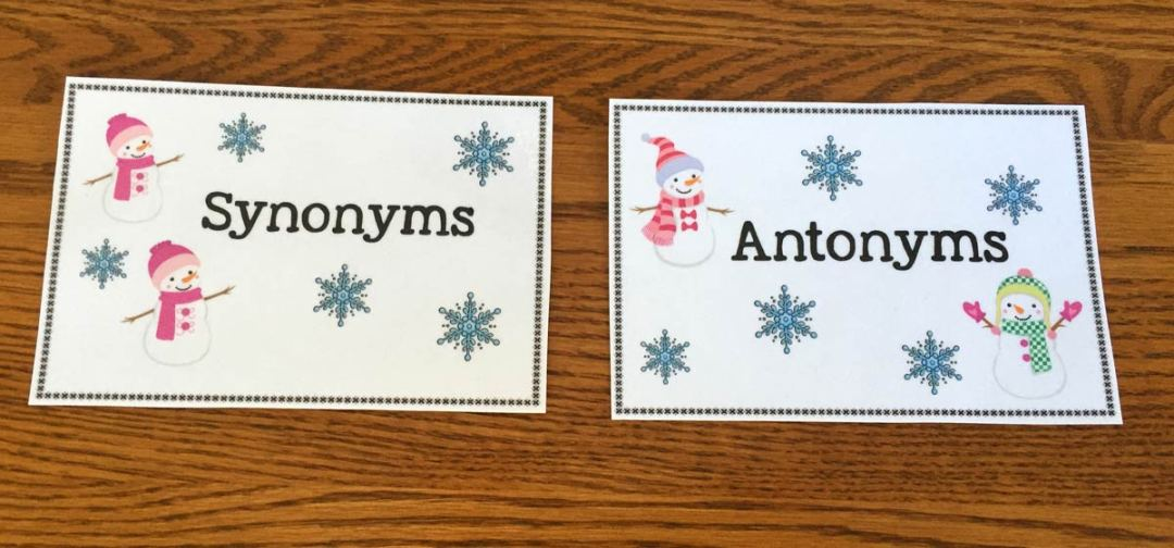 Free Snowman Synonyms And Antonym Sort The Autism Helper