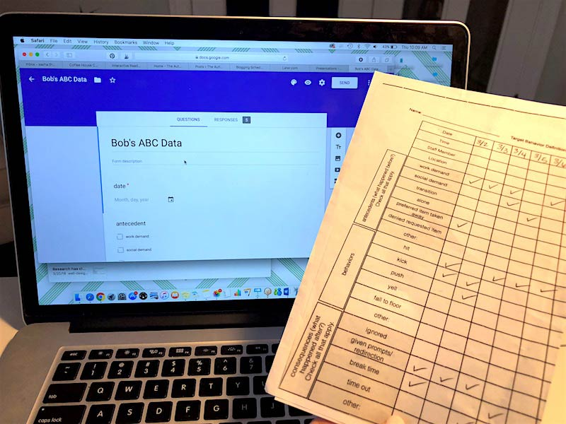 Using Google Forms to Analyze ABC Data